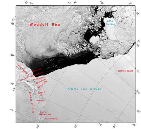 Ronne Shelf western ronne shelf locator map