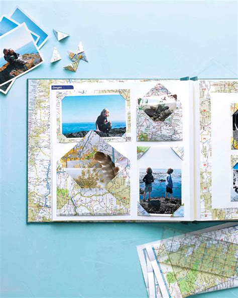 photography scrapbook layout ideas map scrapbooks martha stewart