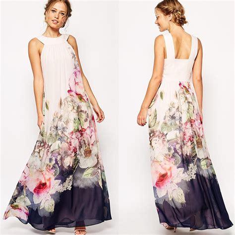 Floral Chiffon Sundress summer floral print chiffon sundress maxi