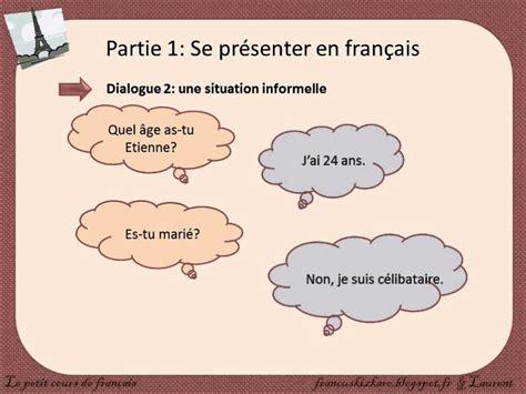 En Français by Se Pr 233 Senter En Fran 231 Ais