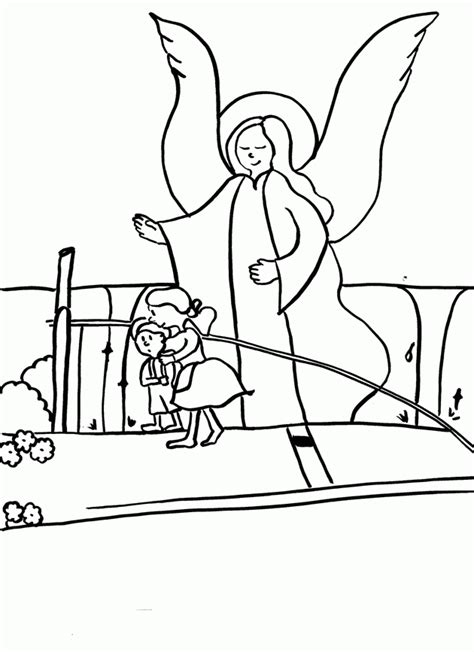 Male Guardian Angel Coloring Page Coloring Home Guardian Coloring Page