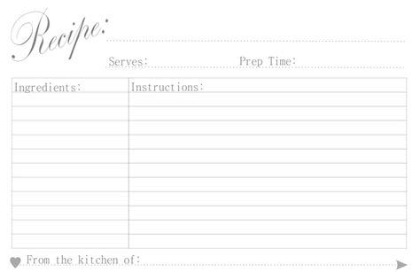 free printable recipe cards black and white free printable recipe cards