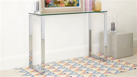 Glass Hallway Table Glass And Chrome Console Table Modern Console Table Uk