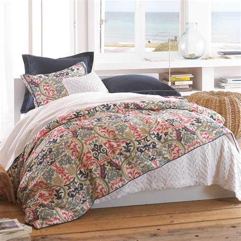 navy and coral comforter peacock alley catalina coral duvet covers shams pillows