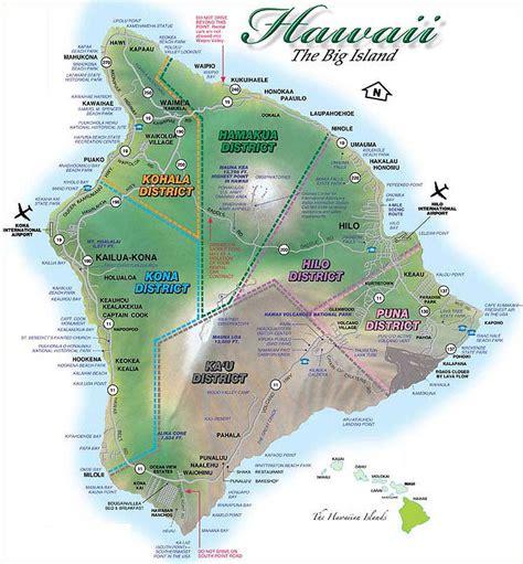 map of big island hawaii hawaii maps kailua kona waikoloa waimea hi island real estate developers and features