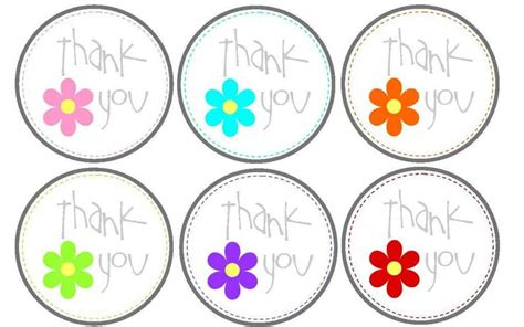 Thank You Card Tag Template by Free Printable Thank You Tags Craftbnb