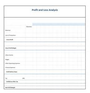 profits and losses template doc 600730 profit and loss form for self employed