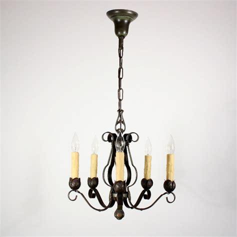 Delightful Lighting by Delightful Antique Five Light Tudor Iron Chandelier Nc1259