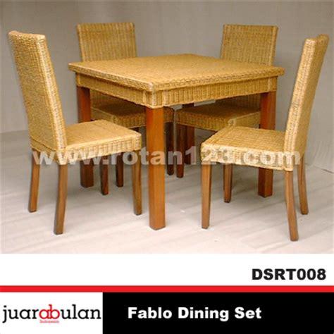 Meja Makan Anyaman harga jual fablo dining set meja makan rotan alami model