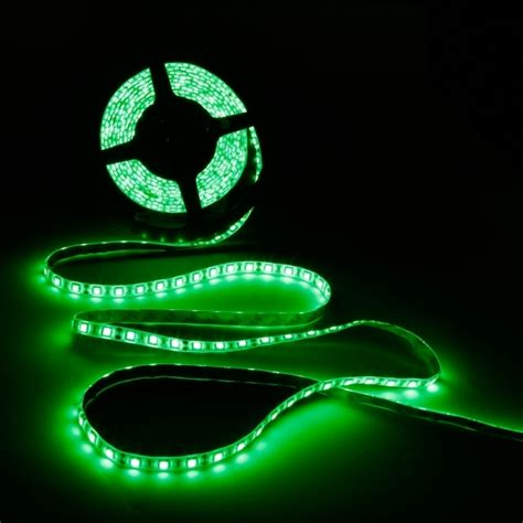 self adhesive led under lighting green 45 led strip flexible tape self adhesive backing 12v