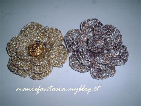 fiori uncinetto cotone come fare fiori uncinetto tridimensionali manifantasia