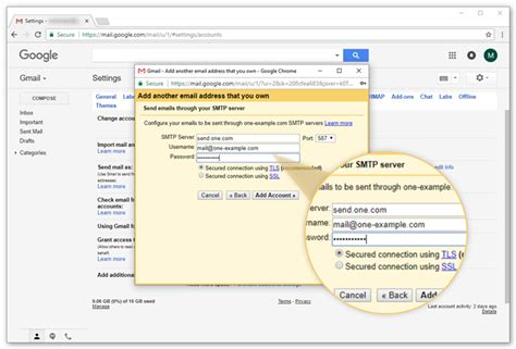 gmail server name and setup pop3 and smtp for gmail support one