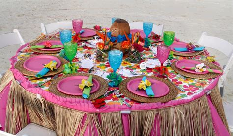 hawaiian table decorations ideas table centerpiece for luau the house decorating
