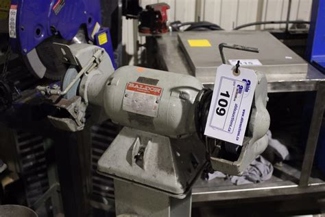baldor bench grinders baldor single phase bench grinder on stand able auctions