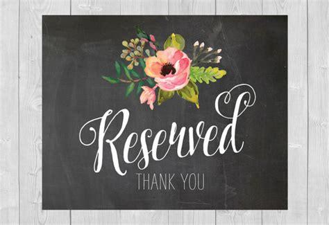 printable chalkboard flowers printable reserved sign chalkboard floral flowers pink