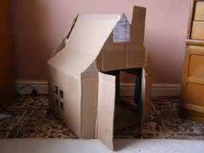 cardboard house create with your hands creativity with cardboard boxes house