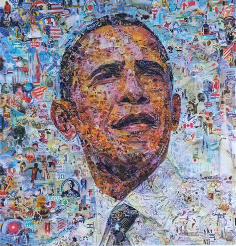 top artist obama by vik muniz monde