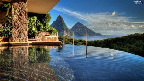 St Sea mountains house lucia caribbean sea pool