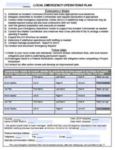 Emergency Operation Plan Template by Local Emergency Operations Plan Floodready