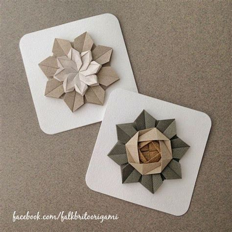 Origami Flowers For Cards - card origami flower falk brito origami