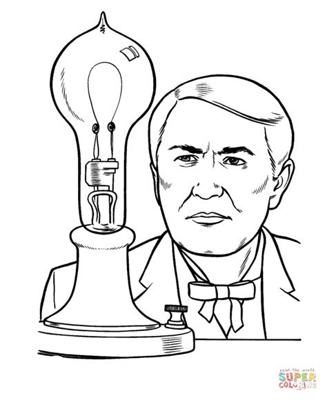 thomas edison coloring page free printable coloring pages