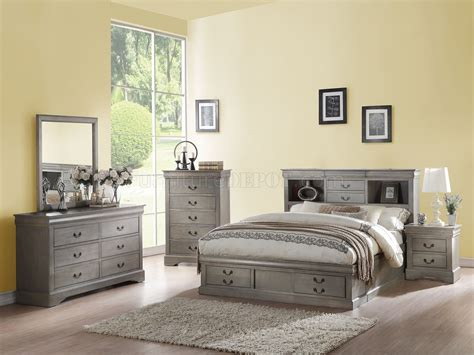 louis philippe iii sleigh bedroom set gray bedroom louis philippe iii 5pc bedroom set 24360 in antique gray