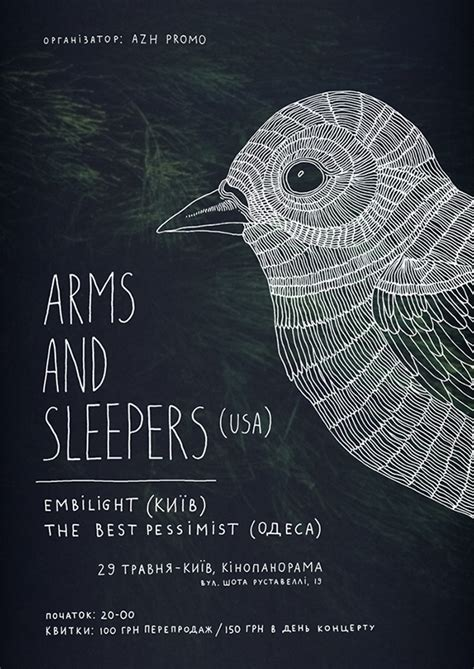 Arms And Sleepers posters for arms and sleepers on behance