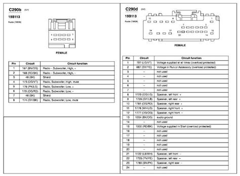 ford 500 stereo wiring diagram wiring diagram with