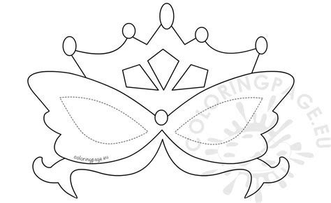 printable mardi gras mask template coloring page