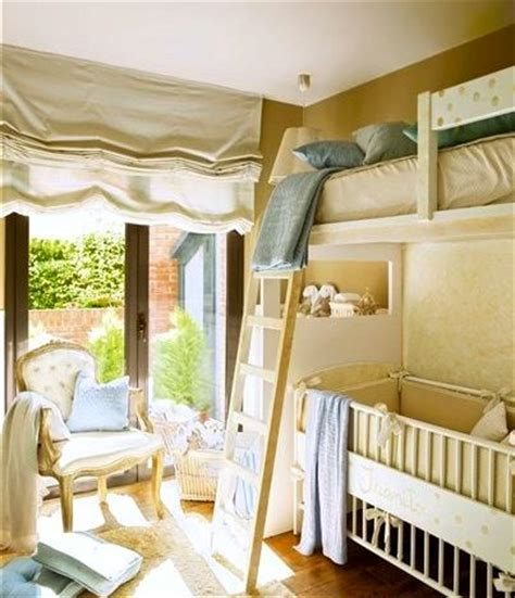 Bunk Bed With Crib Underneath Crib Bunk Bed Shared Room Pinterest