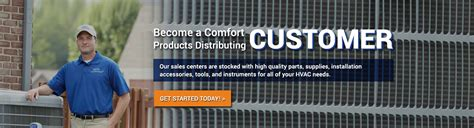 comfort products distributing wholesale hvac equipment parts and supplies comfort