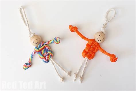 What Does Macrame - easy macrame dolls using paracords ted s