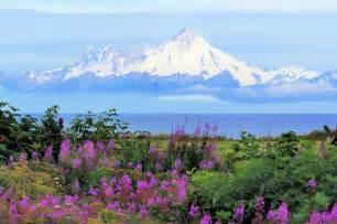 Anchorage Northern Lights Free Photo Alaska Kenia Mt Iliamna Vocano Free Image