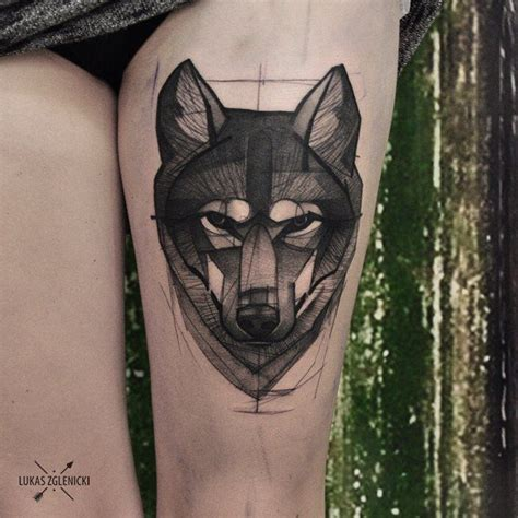 wolfpack tattoo my wolfpack is bigger again cykada thigh wolf