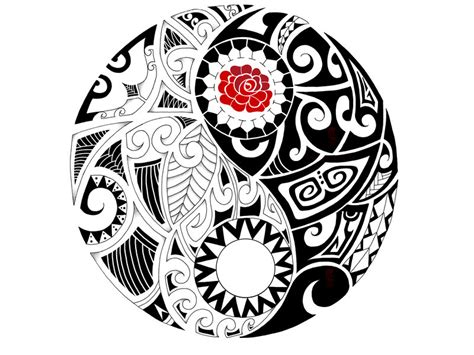 maori drawings of flowers clipart best