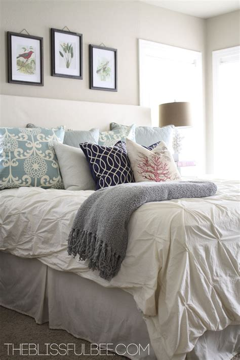neutral bedroom with pops of color master bedroom reveal the blissful bee