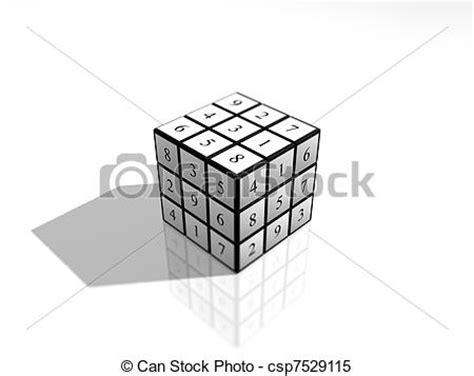 printable sudoku cube stock images of sudoku numbers cube puzzle rubik s like