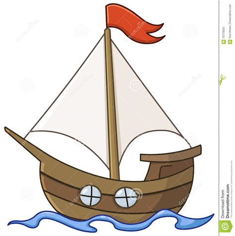 a boat cartoon sailboat cartoon stock vector illustration of speed
