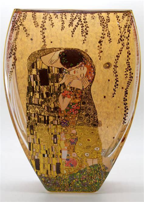 Gustav Klimt Vase by Gustav Klimt Glass Vase