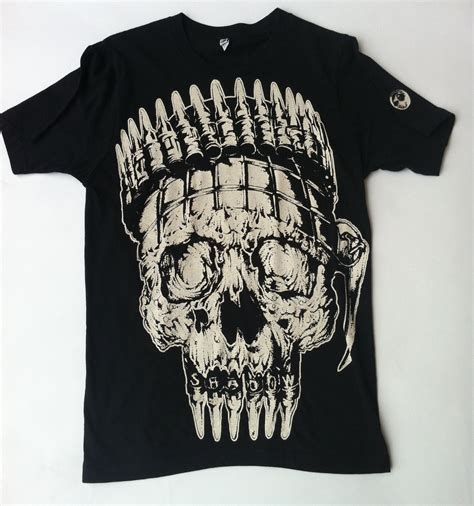 shadow bm shadow quot skull and bullets quot t shirt buy cheap