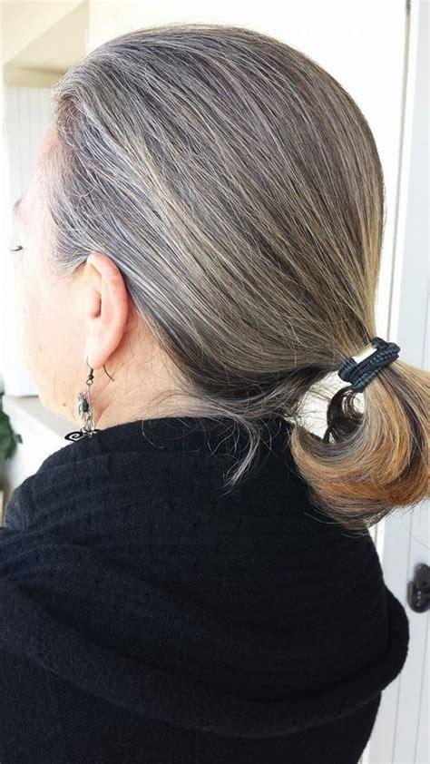 going gray gracefully from brunette brunettes going grey gracefully pinterest going gray