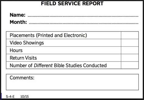 Should You Report Field Service Beroean Pickets Jw Org Reviewer Free Field Service Report Template
