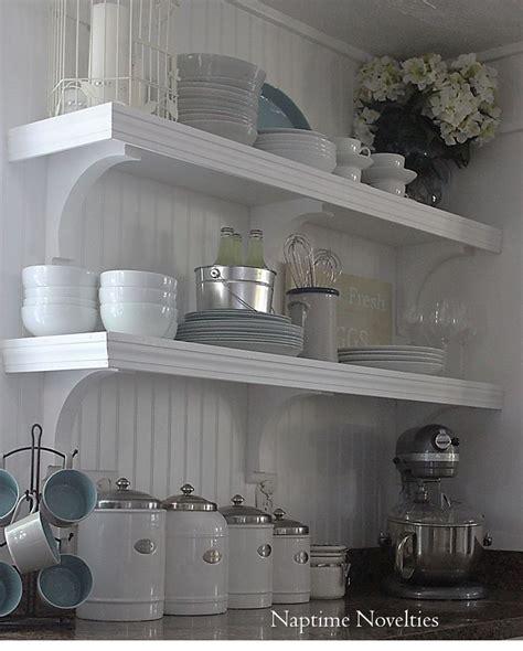 diy open shelving kitchen diy open shelves in kitchen and beadboard backsplash i