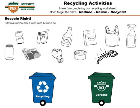 Recycle Worksheets by Recycling Worksheets For Invigorite