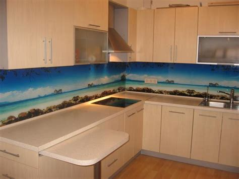 kitchen glass backsplashes colorful glass backsplash ideas adding digital prints to