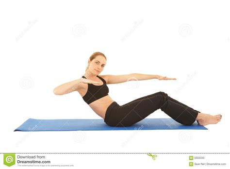 Pilates Mat Series by Pilates Exercise Series Stock Photos Image 5503333