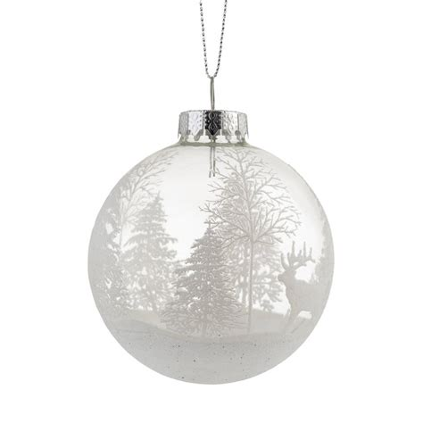 forest clear christmas bauble by the christmas home