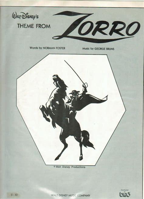 theme song zorro lyrics fsm board new sheet music man 116 george bruns