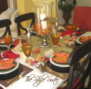 White Dining Room Chair Covers time for fall tablescape the style sisters