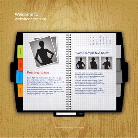 free templates for books websites website template book vectors stock in format for free